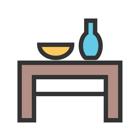 Table, wedding, decoration icon vector image.Can also be used for furniture design. Suitable for mobile apps, web apps and print media.