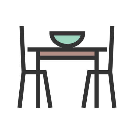 Table, setting, christmas icon vector image.Can also be used for furniture design. Suitable for mobile apps, web apps and print media.