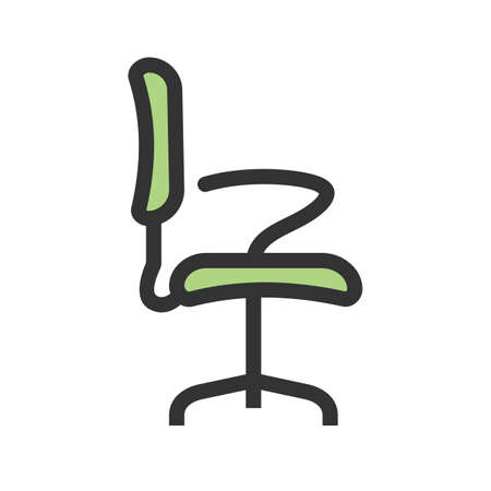 Chair, office, seat icon vector image.Can also be used for furniture design. Suitable for mobile apps, web apps and print media. Ilustrace