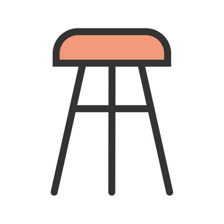 Stool, chair wooden icon