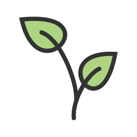 Plant, growing, young icon vector image.Can also be used for gardening. Suitable for mobile apps, web apps and print media. Ilustração