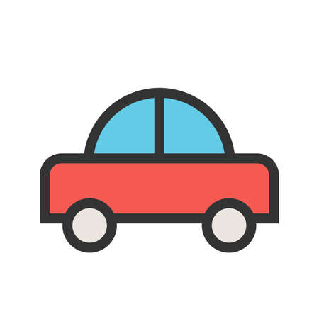 Toy, car, cars icon vector image.Can also be used for toy and games. Suitable for mobile apps, web apps and print media.