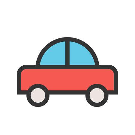 Toy, carro, carros icon vector image.Can também pode ser usado para brinquedos e jogos. Adequado para aplicativos móveis, aplicativos da web e mídia impressa. Foto de archivo - 93370011