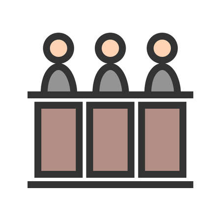 Judge, panel, court icon vector image.Can also be used for law and order. Suitable for mobile apps, web apps and print media.