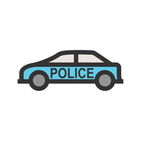 Police, car, van icon vector image.Can also be used for law and order. Suitable for mobile apps, web apps and print media.