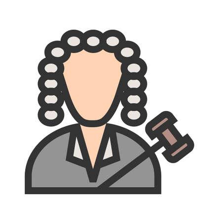 Judge I icon vector illustration.