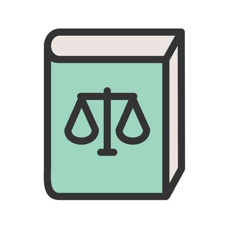 Law book icon.