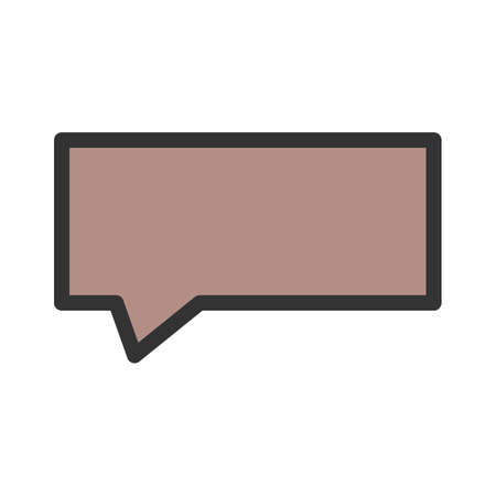 Bubble, chat, message icon vector image. Can also be used for shapes and geometry. Suitable for use on web apps, mobile apps and print media. Illustration