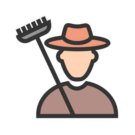 Farmer, corn, agriculture icon vector image. Can also be used for activities. Suitable for use on web apps, mobile apps and print media.