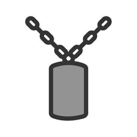 Chain, fence, army icon vector image. Can also be used for military.