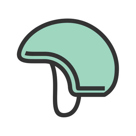Military helmet icon vector image. Ilustrace
