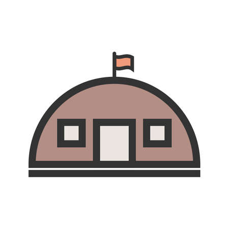 Military, base, concrete icon vector image. Can also be used for military. Иллюстрация