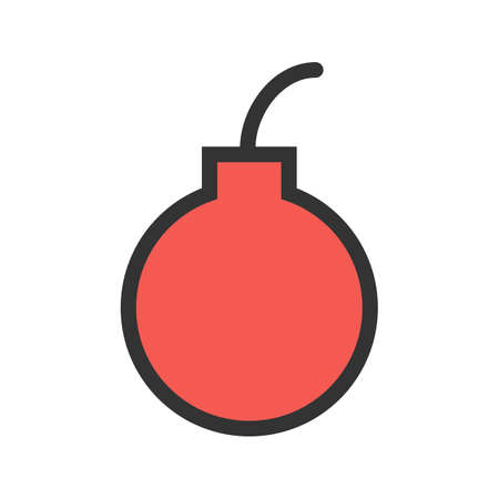 Bomb, dynamite, detonator icon vector image. Can also be used for military. Suitable for use on web apps, mobile apps and print media. Illustration
