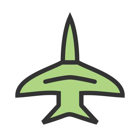 Fighter, jet, f-16 icon vector image. Can also be used for military. Suitable for use on web apps, mobile apps and print media. Illustration