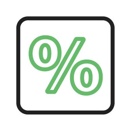 Percentage sign icon