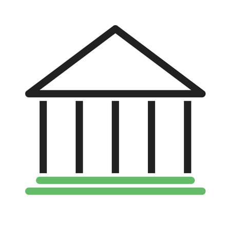 Building, bank, institution icon vector image. Can also be used for banking, finance, business. Suitable for web apps, mobile apps and print media. Illustration