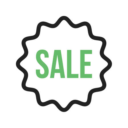 Sold, tag, sale icon vector image. Can also be used for Black Friday. Suitable for use on web apps, mobile apps and print media.