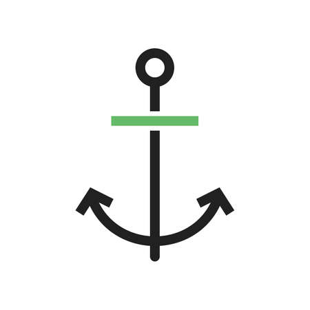 Anchor, ship, boat icon vector image. Can also be used for summer, recreation and fun. Suitable for use on mobile apps, web apps and print media.  イラスト・ベクター素材