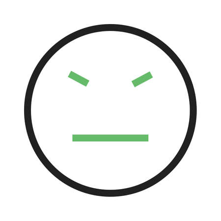 Stubborn, angry, rude icon vector image. Can also be used for emoticons and smileys. Suitable for web apps, mobile apps and print media.