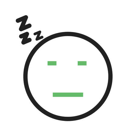 Sleepy, tired, sleeping icon vector image. Can also be used for emotions and smileys. Suitable for mobile apps, web apps and print media. Stock Vector - 93695171