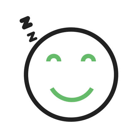 Sleepy, tired, sleeping icon vector image. Can also be used for emotions and smileys. Suitable for mobile apps, web apps and print media. Stock Vector - 93710605