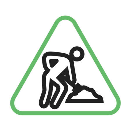 Construction, under, sign icon vector image. Can also be used for traffic signs. Suitable for web apps, mobile apps and print media.