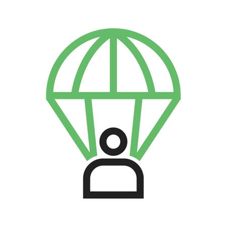 Parachute, skydiving, sport icon vector image. Can also be used for military. Suitable for use on web apps, mobile apps and print media.