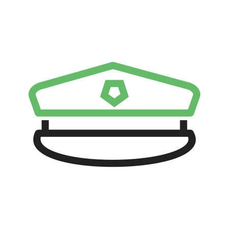 Hat, military, uniform icon vector image. Can also be used for military. Suitable for use on web apps, mobile apps and print media. Ilustrace