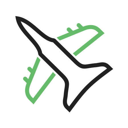 Fighter, plane, military icon vector image. Can also be used for military. Suitable for use on web apps, mobile apps and print media.  イラスト・ベクター素材