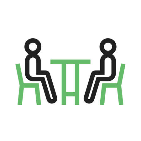 Business, meeting, people icon vector image. Can also be used for activities. Suitable for use on web apps, mobile apps and print media. Ilustração
