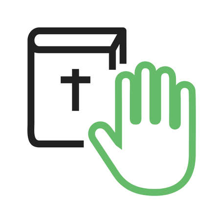 Oath, pledge, honesty icon vector image.Can also be used for law and order. Suitable for mobile apps, web apps and print media.