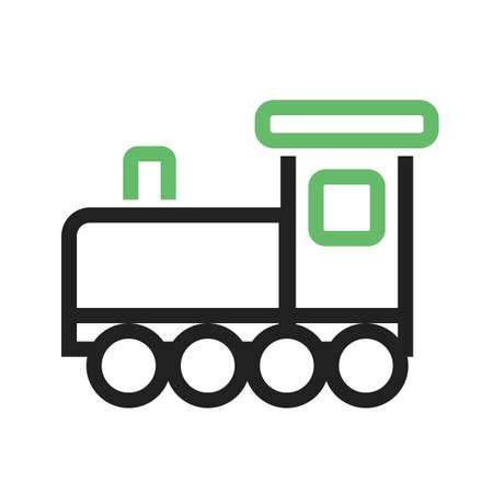 Toy train icon illustration on white background.