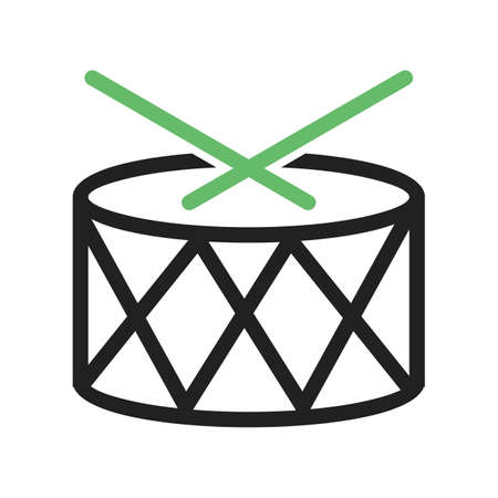 Drum, roll, drummer icon vector image.Can also be used for toy and games. Suitable for mobile apps, web apps and print media.