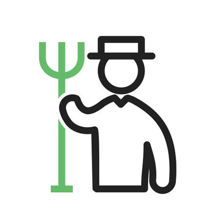 Gardner, gardening, lawn icon vector image.Can also be used for gardening. Suitable for mobile apps, web apps and print media. 일러스트
