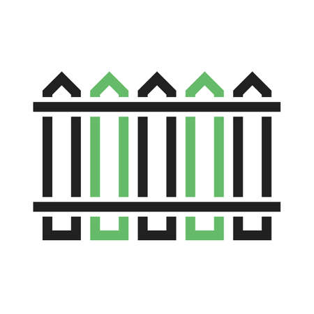Fence, garden, hedge icon vector image.Can also be used for gardening. Suitable for mobile apps, web apps and print media.