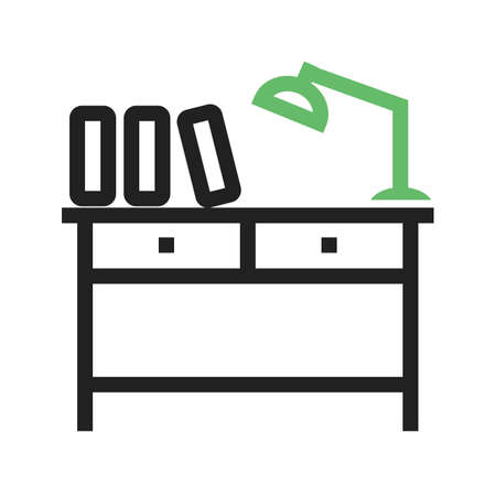 Study, library, school icon vector image.Can also be used for furniture design. Suitable for mobile apps, web apps and print media.