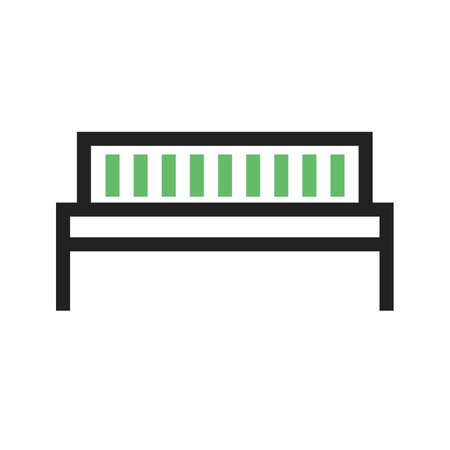 Bench, park, work icon vector image.Can also be used for furniture design. Suitable for mobile apps, web apps and print media.