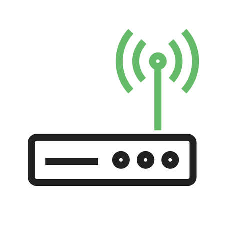 Router, wifi, modem icon vector image.Can also be used for home electronics and appliances. Suitable for mobile apps, web apps and print media.