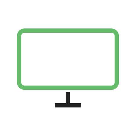 LCD, Fernsehen, Schirmikonen-Vektorbild. Kann für Heimelektronik und Geräte auch verwendet werden. Geeignet für mobile Apps, Web-Apps und Printmedien. Standard-Bild - 94119378