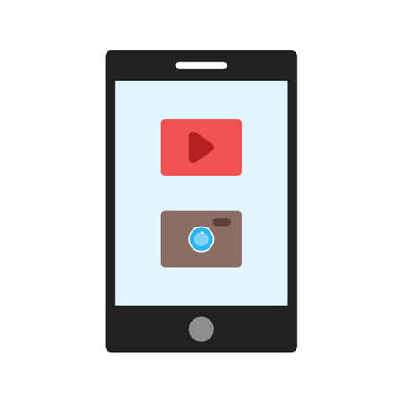 Mobile, smartphone, application icon vector image. Can also be used for IT services. Suitable for use on web apps, mobile apps and print media.