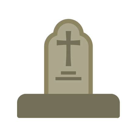 Grave, funeral icon Vector illustration. Illustration