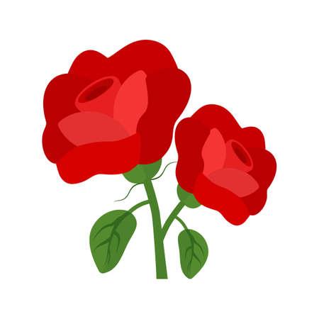 Rozen, bloemen, ernstige pictogram vector afbeelding. Kan ook worden gebruikt voor de begrafenis. Geschikt voor mobiele apps, web-apps en gedrukte media.