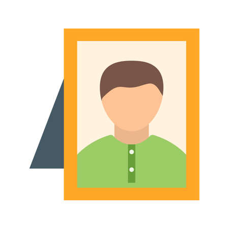 Frame, picture, relative icon vector image. Can also be used for funeral. Suitable for mobile apps, web apps and print media. 일러스트