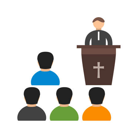 Coffin, funeral, sermon icon vector image. Can also be used for funeral. Suitable for mobile apps, web apps and print media. Stock Vector - 94432724