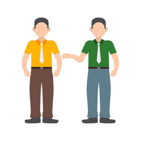 Imagem vetorial difícil, negociação, personalidade ícone. Também pode ser usado para soft skills. Adequado para uso em aplicativos da web, aplicativos móveis e mídia impressa. Ilustración de vector