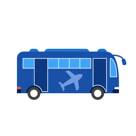 Airport, bus, passengers icon vector image. Can also be used for airport. Suitable for mobile apps, web apps and print media.