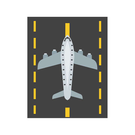 Runway, airport, plane icon vector image. Can also be used for airport. Suitable for mobile apps, web apps and print media. Фото со стока - 94433692
