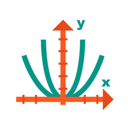 Algebra-vergelijkingenpictogram Stock Illustratie