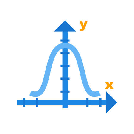 Klokvormige grafiek Stock Illustratie