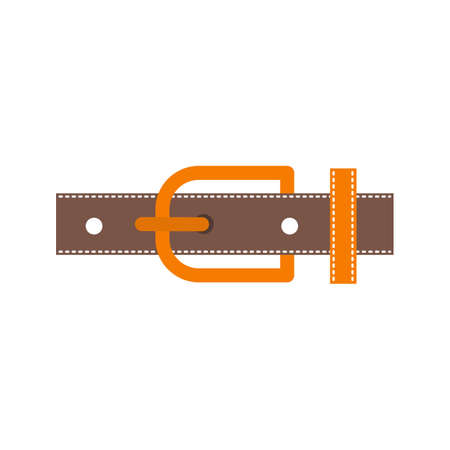Belt, leather, buckle icon vector image. Can also be used for Men s Accessories. Suitable for web apps, mobile apps and print media. Illusztráció